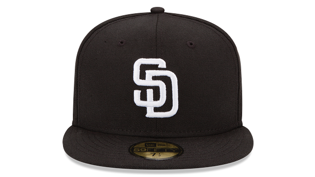 SAN DIEGO PADRES BLACK & WHITE 59FIFTY FITTED