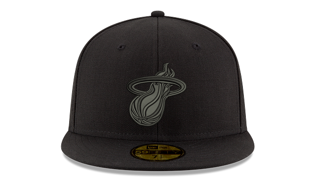 MIAMI HEAT BLACK ON BLACK 59FIFTY FITTED