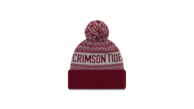 ALABAMA CRIMSON TIDE WINTRY POM KNIT Rear view