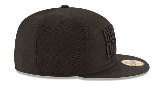 CLEVELAND BROWNS BLACK ON BLACK 59FIFTY FITTED
