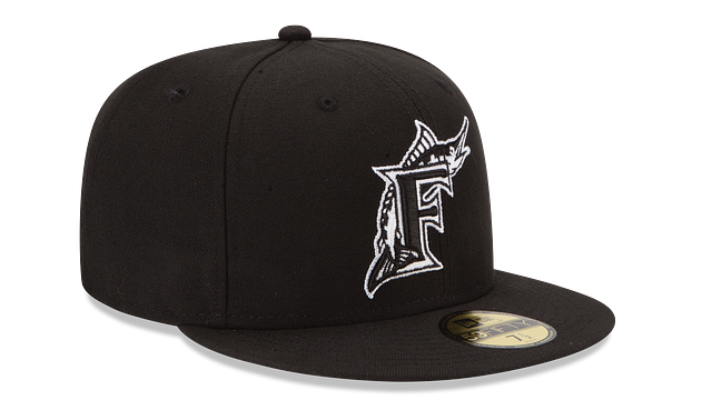 FLORIDA MARLINS BLACK & WHITE 59FIFTY FITTED