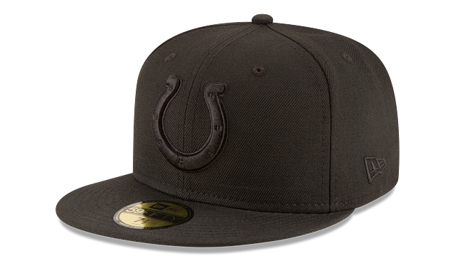 INDIANAPOLIS COLTS BLACK ON BLACK 59FIFTY FITTED