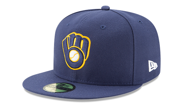 KIDS MILWAUKEE BREWERS AUTHENTIC COLLECTION 59FIFTY FITTED