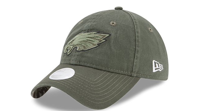 WOMENS PHILADELPHIA EAGLES SALUTE TO SERVICE 9TWENTY ADJUSTABLE