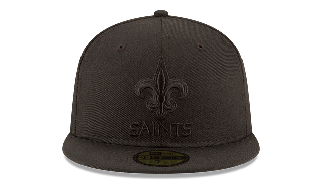NEW ORLEANS SAINTS BLACK ON BLACK 59FIFTY FITTED