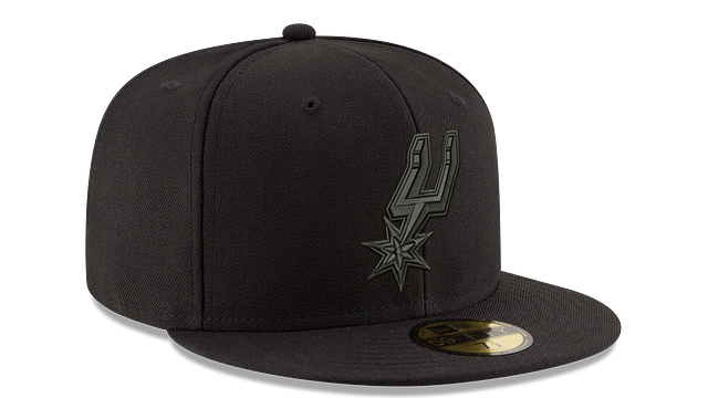 SAN ANTONIO SPURS BLACK ON BLACK 59FIFTY FITTED