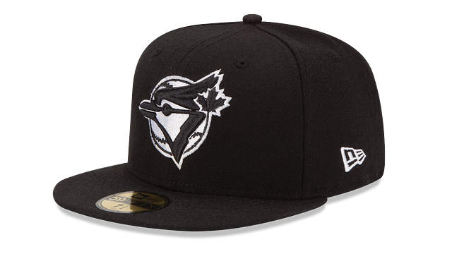 TORONTO BLUE JAYS BLACK & WHITE 59FIFTY FITTED