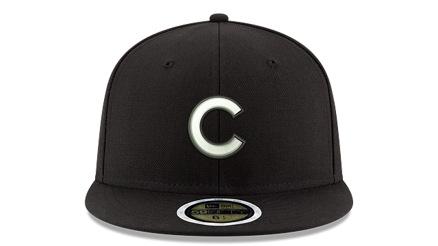 KIDS CHICAGO CUBS BLACK & WHITE 59FIFTY FITTED