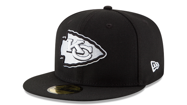 KANSAS CITY CHIEFS BLACK & WHITE 59FIFTY FITTED