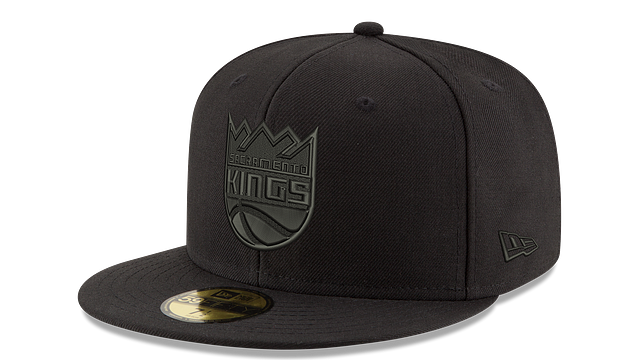 SACRAMENTO KINGS BLACK ON BLACK 59FIFTY FITTED