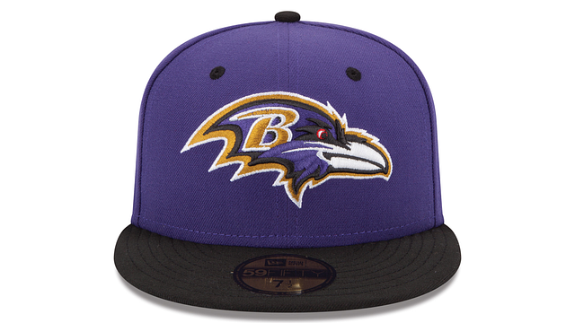 BALTIMORE RAVENS 2TONE 59FIFTY FITTED