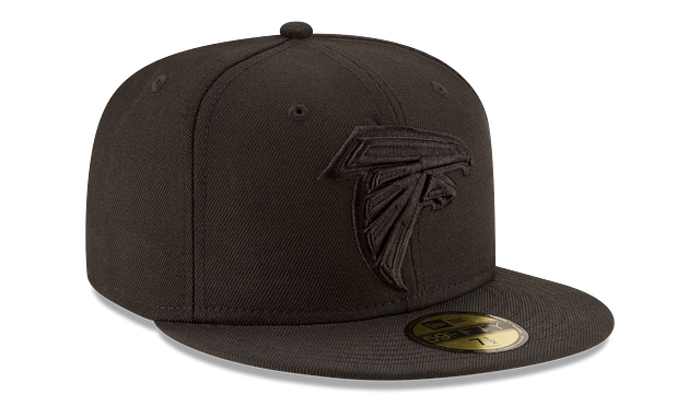 ATLANTA FALCONS BLACK ON BLACK 59FIFTY FITTED