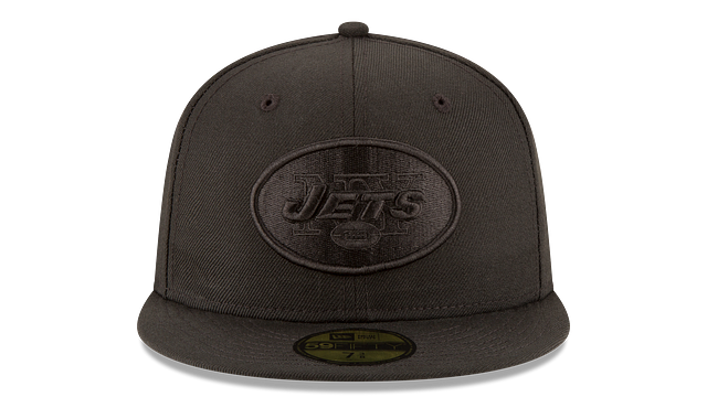 NEW YORK JETS BLACK ON BLACK 59FIFTY FITTED