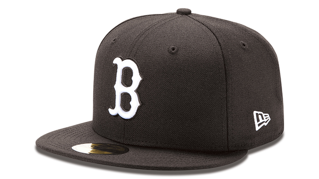 BOSTON RED SOX BLACK & WHITE 59FIFTY FITTED