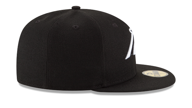CAROLINA PANTHERS BLACK & WHITE 59FIFTY FITTED