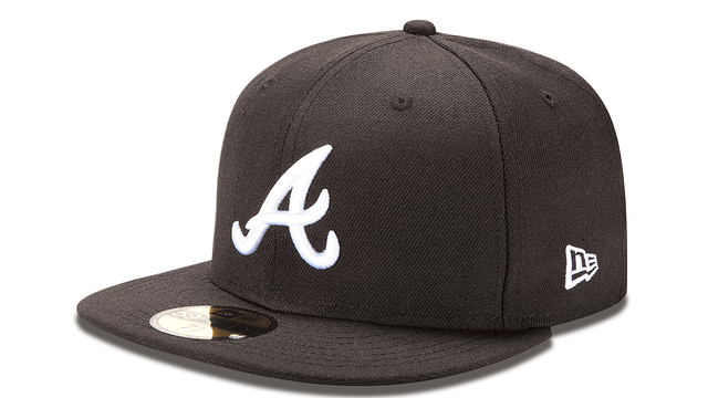 ATLANTA BRAVES BLACK & WHITE 59FIFTY FITTED