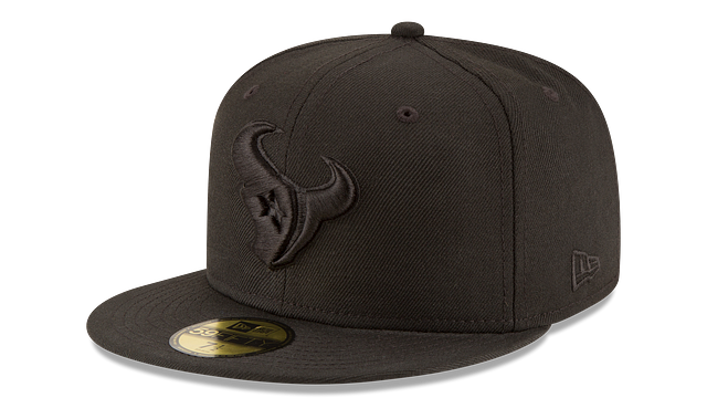 HOUSTON TEXANS BLACK ON BLACK 59FIFTY FITTED