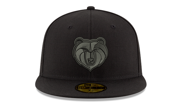 MEMPHIS GRIZZLIES BLACK ON BLACK 59FIFTY FITTED