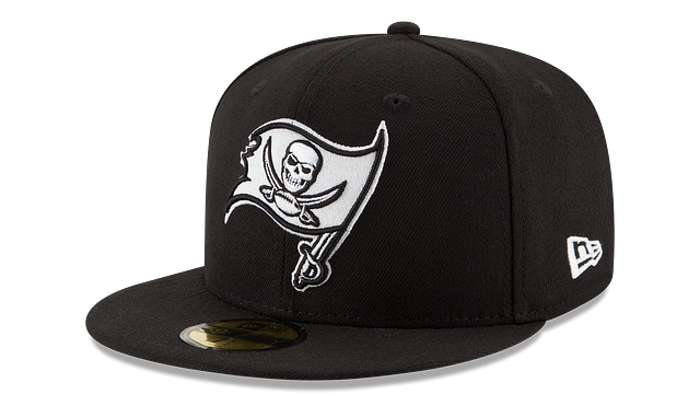 TAMPA BAY BUCCANEERS BLACK & WHITE 59FIFTY FITTED