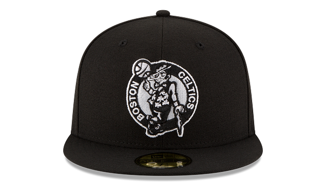BOSTON CELTICS BLACK & WHITE 59FIFTY FITTED