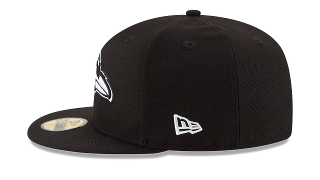 BALTIMORE RAVENS BLACK & WHITE 59FIFTY FITTED