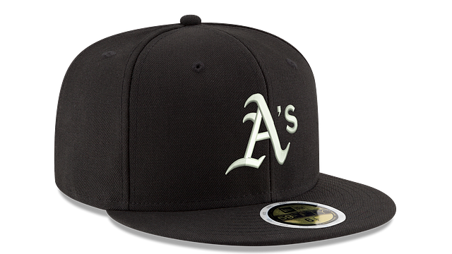 KIDS OAKLAND ATHLETICS BLACK & WHITE 59FIFTY FITTED