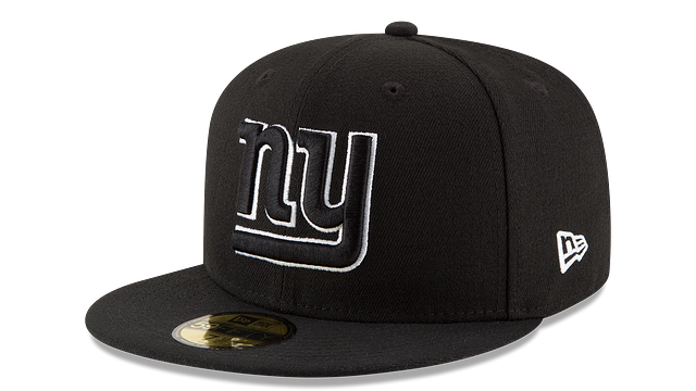 NEW YORK GIANTS BLACK & WHITE 59FIFTY FITTED