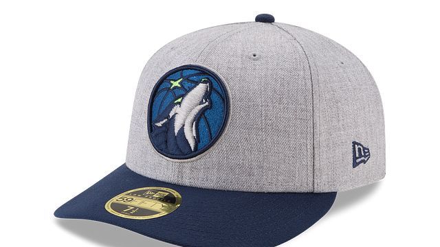 MINNESOTA TIMBERWOLVES HEATHER LOW PROFILE 59FIFTY FITTED