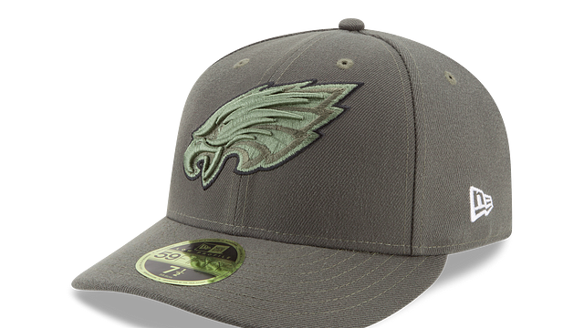 PHILADELPHIA EAGLES SALUTE TO SERVICE LOW PROFILE 59FIFTY FITTED