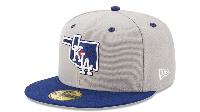 OKLAHOMA DODGERS AUTHENTIC COLLECTION 59FIFTY FITTED
