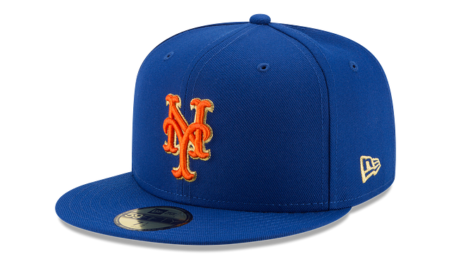 NEW YORK METS MLB CHAMPION HASHMARK 59FIFTY FITTED