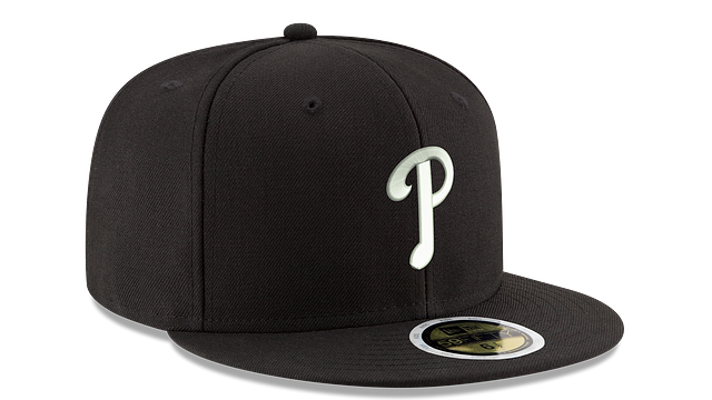 KIDS PHILADELPHIA PHILLIES BLACK & WHITE 59FIFTY FITTED