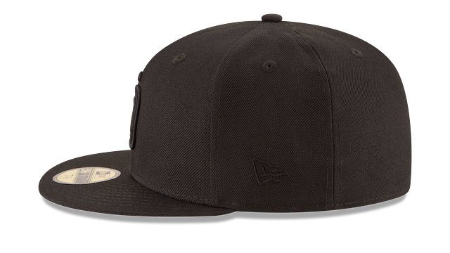 SAN DIEGO PADRES BLACK ON BLACK 59FIFTY FITTED