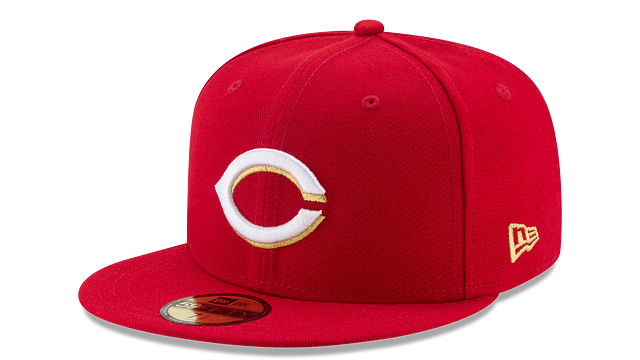 CINCINNATI REDS MLB CHAMPION HASHMARK 59FIFTY FITTED