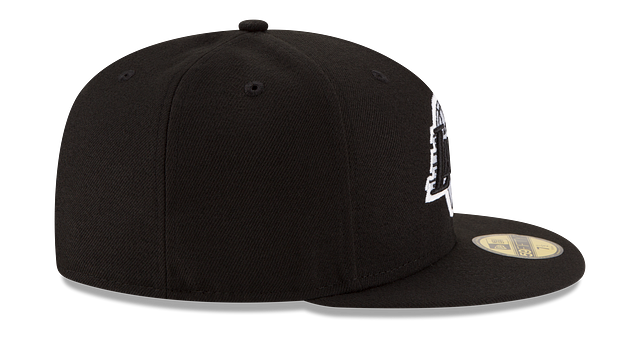 LOS ANGELES LAKERS BLACK & WHITE 59FIFTY FITTED