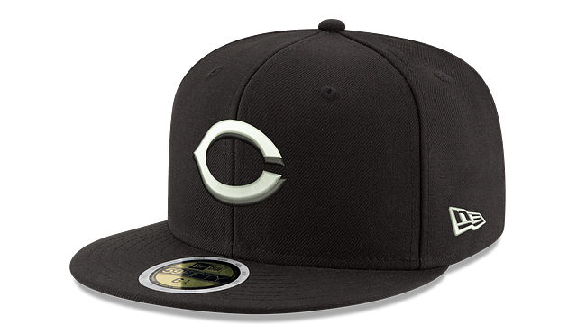 KIDS CINCINNATI REDS BLACK & WHITE 59FIFTY FITTED