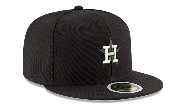 HOUSTON ASTROS BLACK & WHITE 59FIFTY FITTED