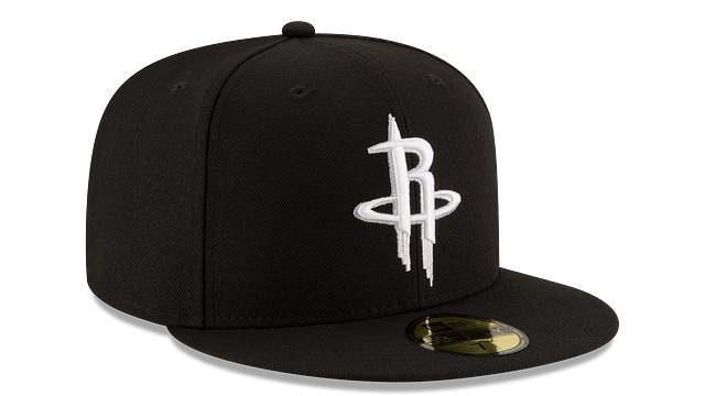 HOUSTON ROCKETS BLACK & WHITE 59FIFTY FITTED