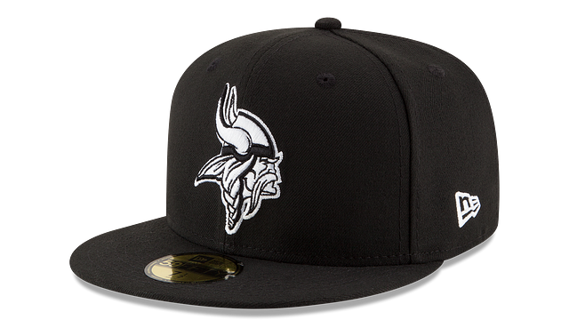 MINNESOTA VIKINGS BLACK & WHITE 59FIFTY FITTED