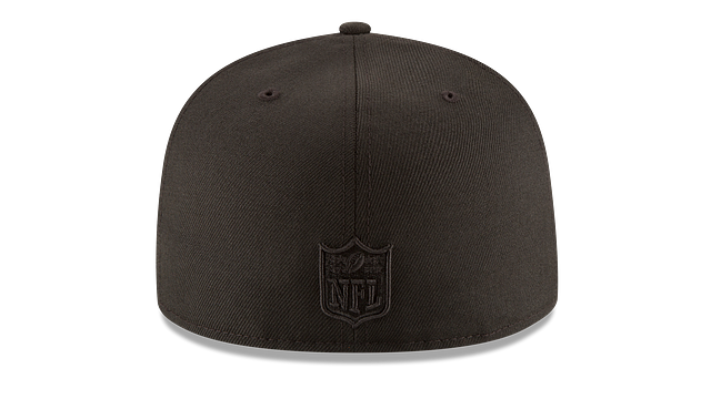 NEW ENGLAND PATRIOTS BLACK ON BLACK 59FIFTY FITTED