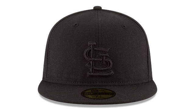 ST. LOUIS CARDINALS BLACK ON BLACK 59FIFTY FITTED
