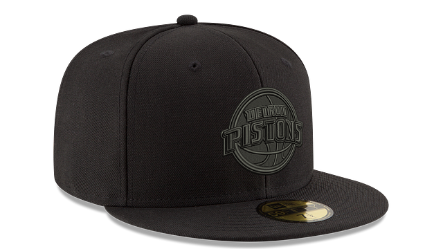 DETROIT PISTONS BLACK ON BLACK 59FIFTY FITTED