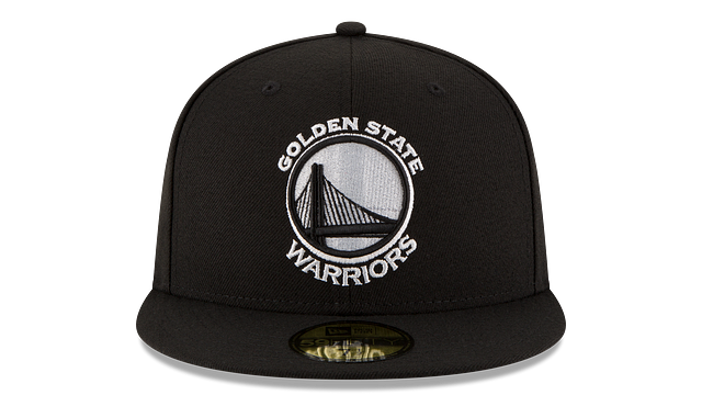 GOLDEN STATE WARRIORS BLACK & WHITE 59FIFTY FITTED