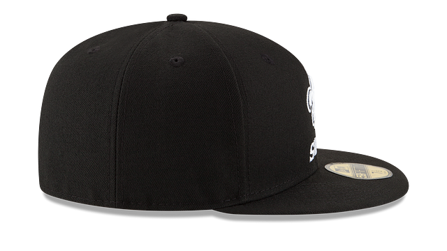 NEW ORLEANS SAINTS BLACK & WHITE 59FIFTY FITTED
