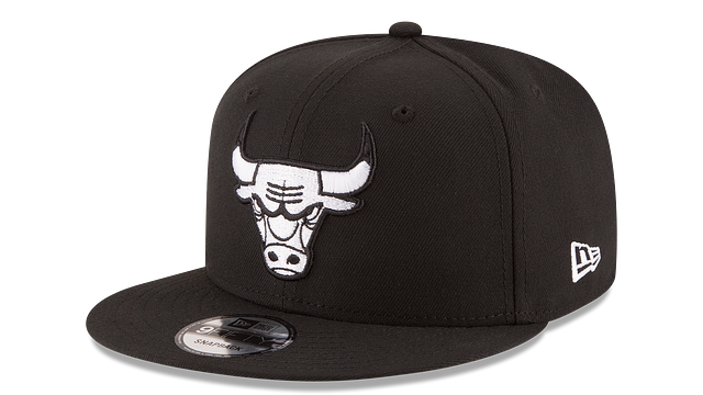 CHICAGO BULLS BASIC BLACK 9FIFTY SNAPBACK