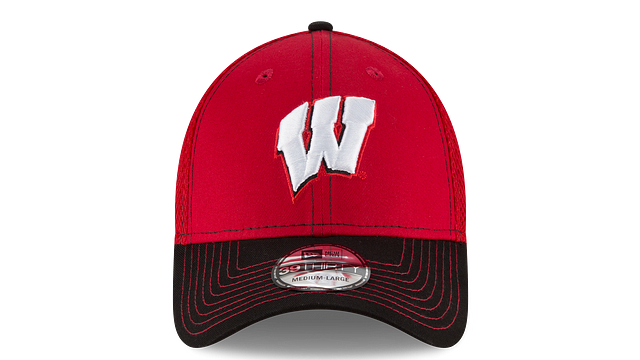 WISCONSIN BADGERS TEAM CLASSIC 39THIRTY STRETCH FIT