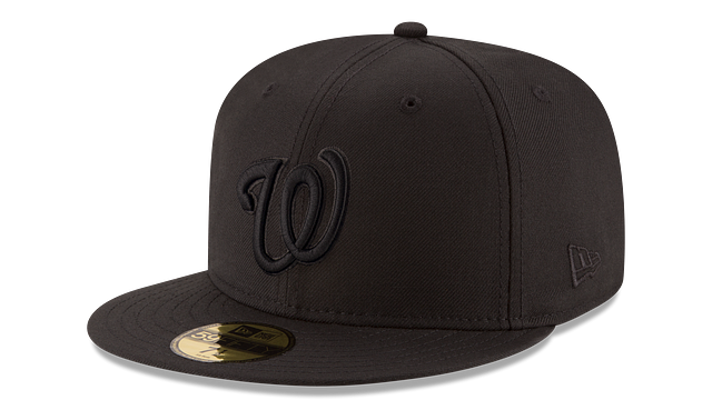 WASHINGTON NATIONALS BLACK ON BLACK 59FIFTY FITTED