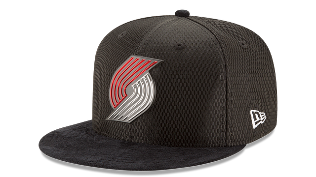 PORTLAND TRAILBLAZERS ON COURT 9FIFTY SNAPBACK