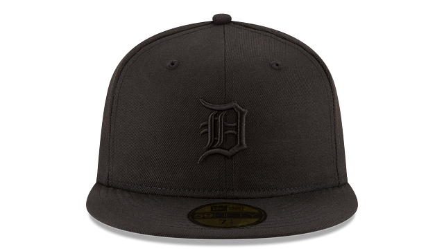 DETROIT TIGERS BLACK ON BLACK 59FIFTY FITTED