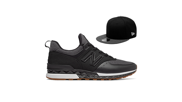NEW ERA x NEW BALANCE 574S & 9FIFTY STRAPBACK Right side view